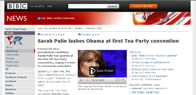 Palin lashes Obama