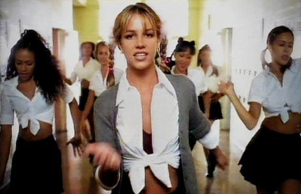 screen cap from Britney Spears' Hit Me Baby One More Time video